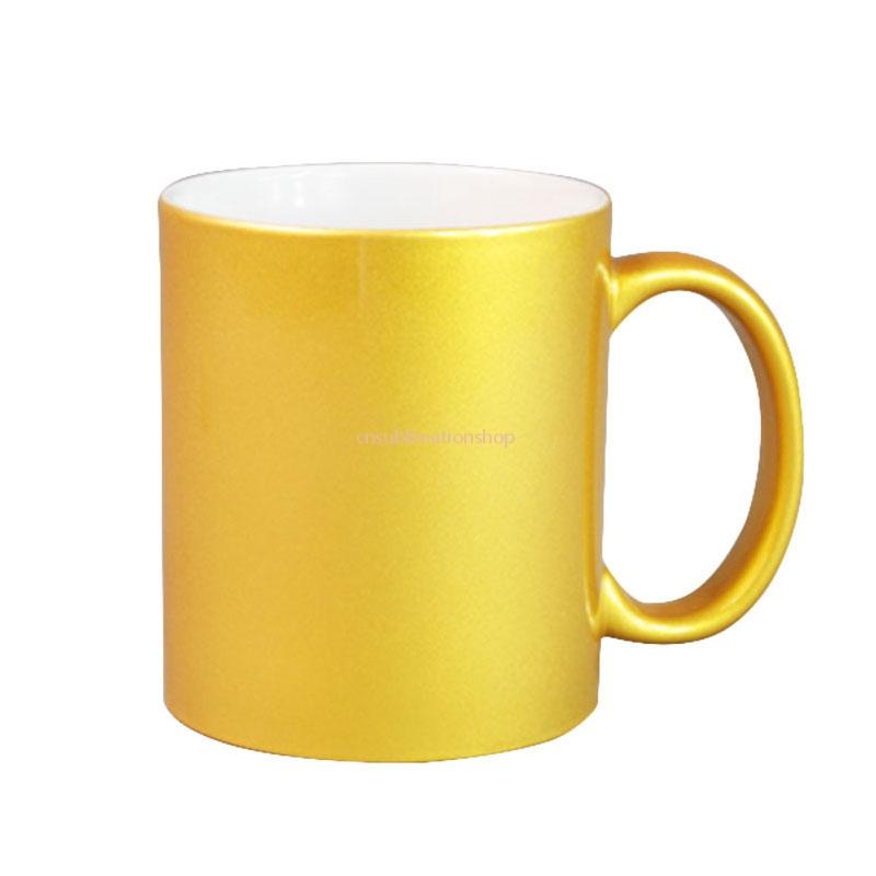 Sublimation Gold Pearl Porcelain Mug