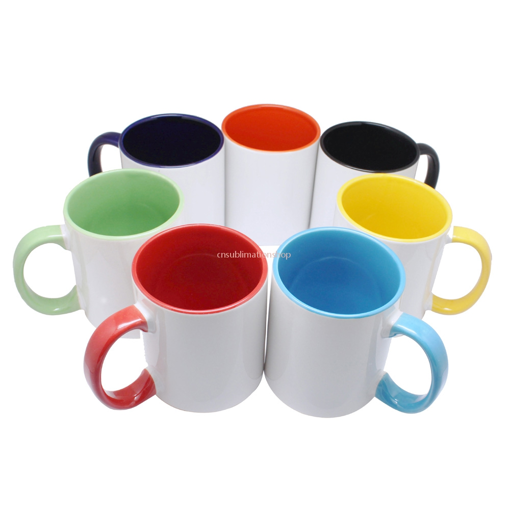 11oz Top Grade Inner Handle Colourful Mug