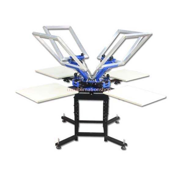 4 Color 4Station Silk Screen Printing Press