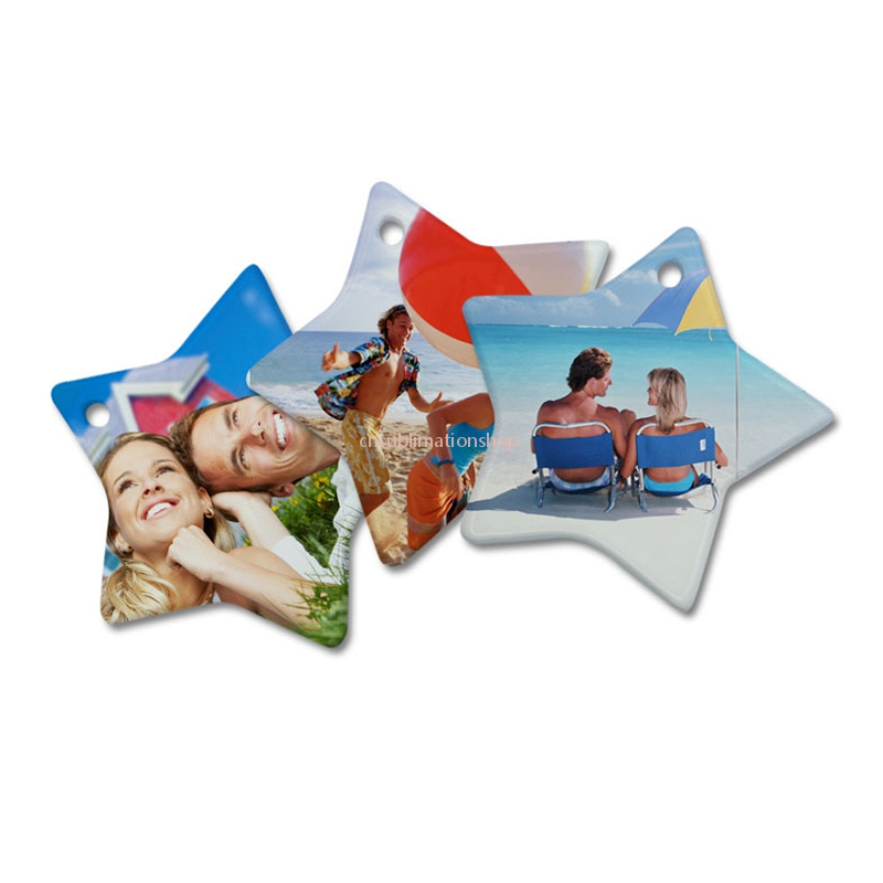 Sublimation Printing Blank Pendents for Christmas Tree Decoration