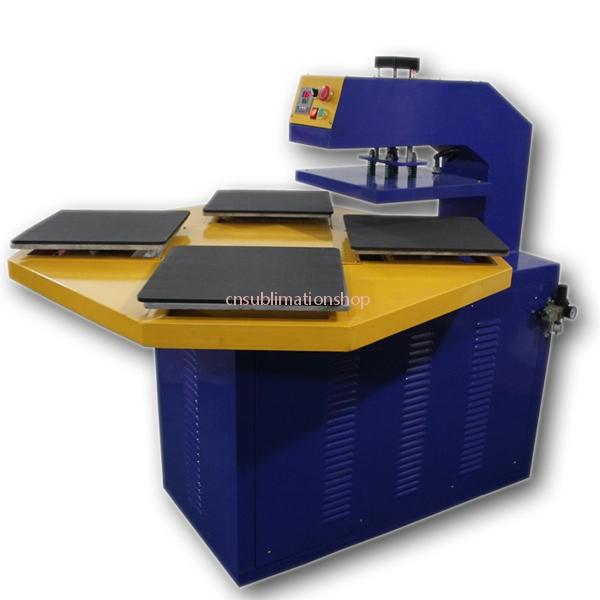 Pneumatic Automatic T-shirt Heat Press Machine Four Working Tables Model#B5-1