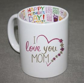 Ceramic Print Logo Inner Color Porcelain 11oz Sublimation Mug